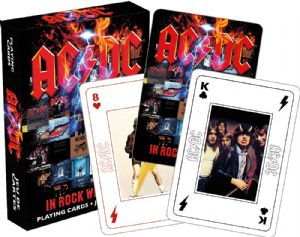 AC/DC In Rock We Trust set of 52 playing cards + jokers